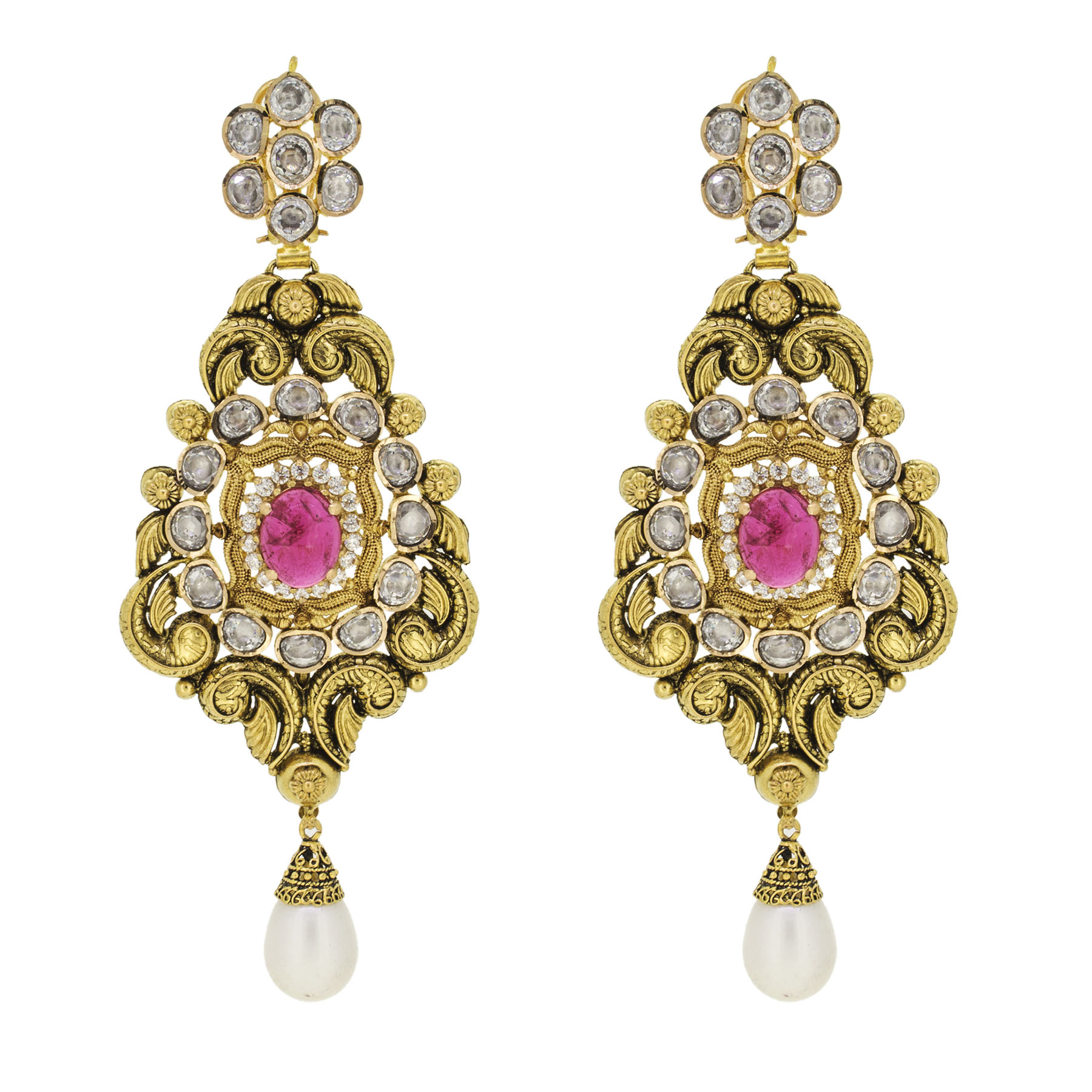 Indian Style Gold Earrings